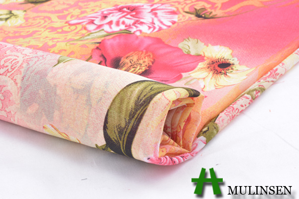 Mulinsen textiles, nouveau design tissé polyester imprimé en mousseline de soie tissu lité 15d qualité des vêtements pour femmes