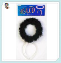 Cheap Party Fancy Dress Black Feather Angel Halo Headbands HPC-2181