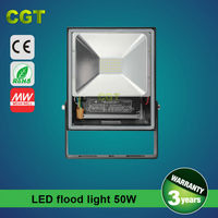 led flood light 50w CE ROHS WithPhilips Chip & Meanwell Driver 5 Years Warranty 50w led flood light