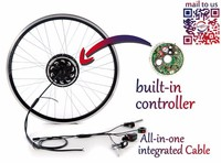 36v 250w front or rear Brushless wheel hub motor ebike conversion kit with sine wave controller