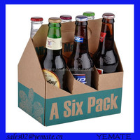 High quality offset printing 6 bottle corrugated cardboard wine box for display