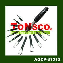 Manual de intercambiables& pnematic& cincel punch auto repair kit de herramientas