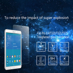 2015 high clear best tempered glass screen protector for samsung Tab pro 8.4(T320 T321 T325) screen guard