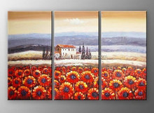 Fashion decorative sunflower acrylic landscape paintings on canvas