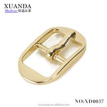 High quality Light gold mini retangle Metal Pin buckle pin belt buckles