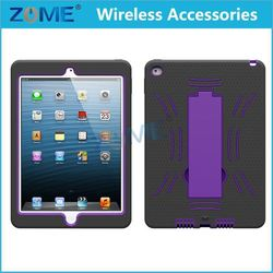 Hot Sale Wholesale Cell Accessory Case/Cover for IPad 6 with Armor Case with Vertical Stand
