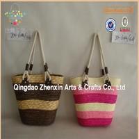 colorful wheat straw women beach bag,shopping bag for fashion lady
