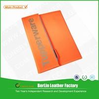 Fashionable orange A4 size sewing canvascover women portfolio folder/case