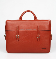 Retro OEM free custom logo hard shell briefcase leather mens briefcase