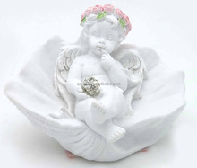 Wholesale religious angel figurine held diamond