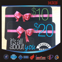 MDC568 Blank pvc gift card with barcode