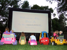 Rent an inflatable movie screen for host outdoor event!