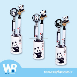 Cute panda mechanical pencil and ball pen gift set