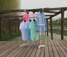 Metal Veranda Livingroom Customized Laundry Double Pole Clothe Cloth Drying Rack & Hanger