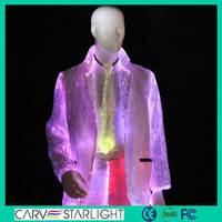 Newest Hot led lights fantasy hip hop dance costume tuxedo