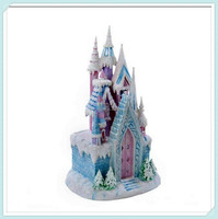 Wholesle miniature resin building castle