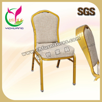 Hotel furniture/ restaurant action back chair in aluminum YC-C12