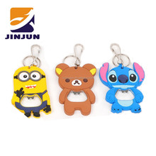 cheap various cute cartoon opener beer bottle opener keychain ring kitchen cooking tools Creative Gift