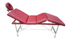 Hot Sale! 4 section portable aluminum massage table with luxurious leather