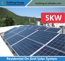 1KW 2KW 3KW 5KW Green Energy Residential AC On Grid Solar Home System with High Performance