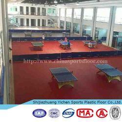 Indoor PVC Sports Flooring indoor table tennis floor mat