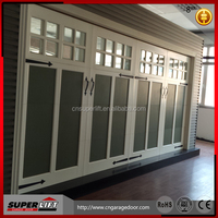 used commercial double aluminium glass entry door