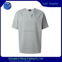 Tailor made men blank t-shirt with deep collar design