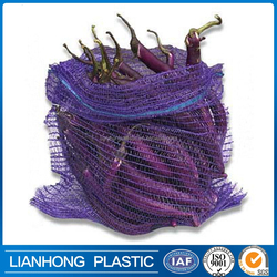 Various Size, Color tubular mesh bag for eggplant, onion, pepper packing, Bio-degradable and cheap mesh bag manufacturer.