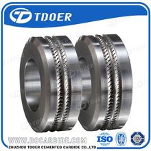 Pr6.0 125X82X15Mm Tungsten Carbide Rolls For Forming Smooth Steel Wires