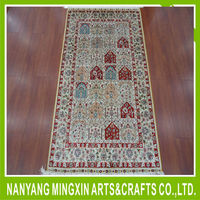 B10 high quality Handmade pure silk carpet/rugs for hotel lobby