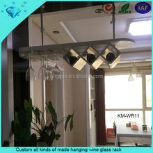 Custom all kinds of made hanging wine glass rack