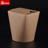 Cheese noodle paper boxes with round base