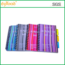 2015 hot selling customize new design hard cover spiral paper notebook for office supplies/school supplies