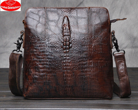crocodile leather One shoulder Leisure style bags for men