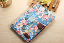 2014 hot selling retro style cowboy jean flower pattern leather case for ipad 2 3 4 with tpu gel cover & card slot