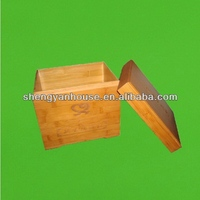 Good quality antique wooden lunch boxes