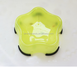 plastic star shape pet bowl dog bowl cat bowls big and small style