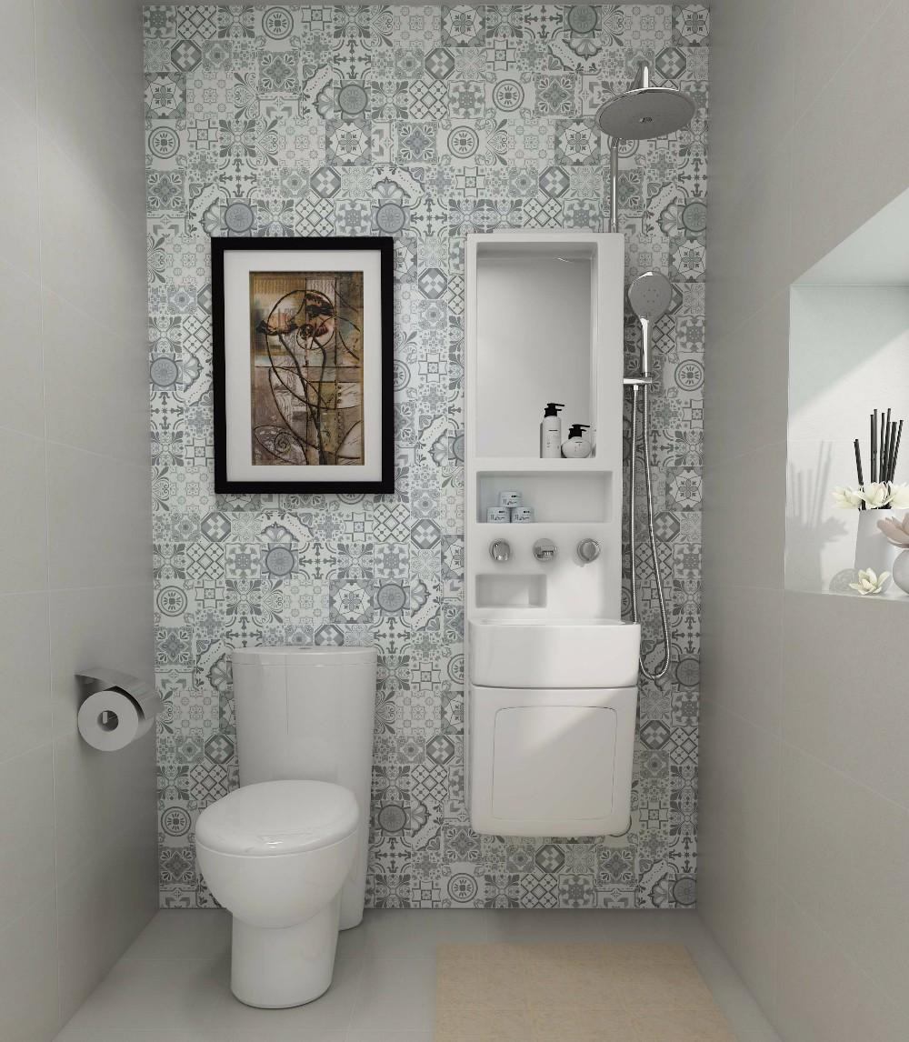 합성 욕실 싱크 캐비닛, 분지, 샤워 믹서 목욕 피팅 조합-배스 ...