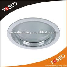 cfl round glass g24 led pl downlight