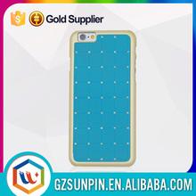 Handmade luxury shining pc diamond case for iphone 6