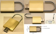 Metal Padlock USB Flash Drive, USB Stick