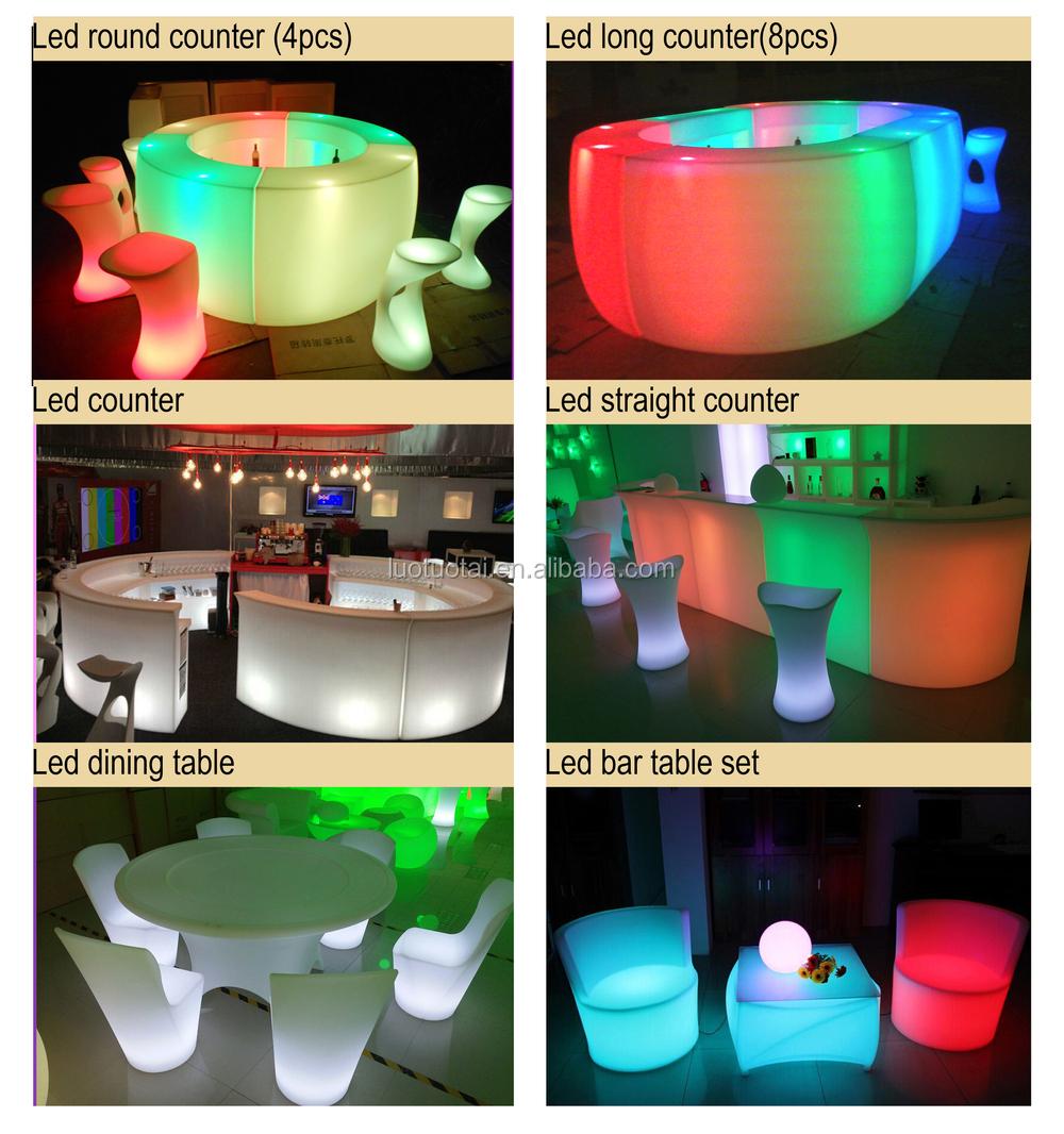 lumineux led bar meubles multicolore changement led bar table led rond comptoir de bar. Black Bedroom Furniture Sets. Home Design Ideas