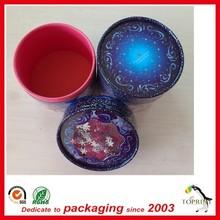 2015 hot selling luxury packaging tube custom design cardboard cylinder packaging tube box rolled edge top quality