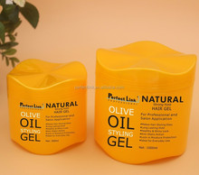 Natural strong hold hair gel PL006 1000ml salon professional / home daily GMPC / ISO manufacture