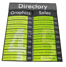 curved aluminum directory sign/building sign
