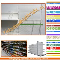 wire mesh hanging basket/basket shelf for gondola shelvings