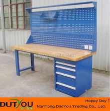 Led Workbench with Solid Wood Top