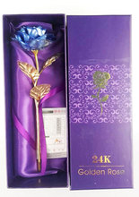 Fashion style gift 24K gold foil rose with certificate