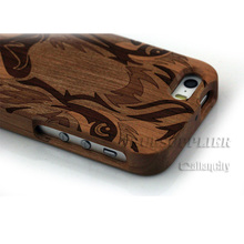 Hot Selling Real wood bamboo Phone case for iPhone 5 5s /6 6plus with tiger face
