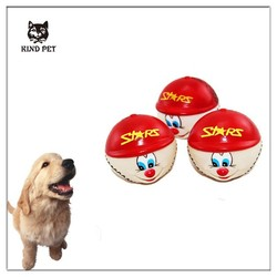 smile face Dog with Sound Squeaker Squeaky Toys